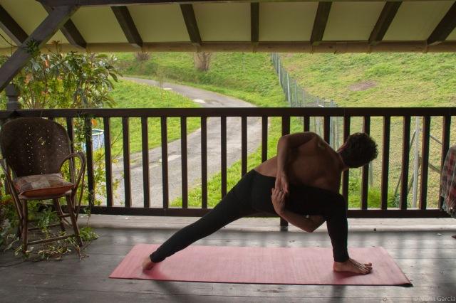 Todas estas asanas de yoga se han realizado en el centro de retiro que el Centro Aguamarina tiene en Artxanda