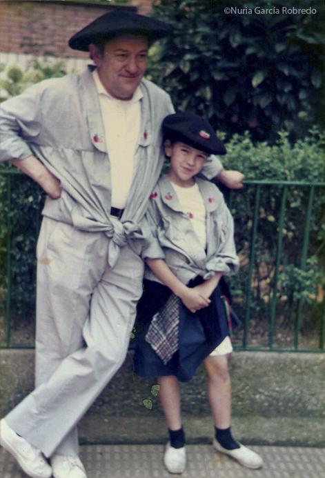 6-Papá y Nuria-Txapel Jaiak 30 junio 1985