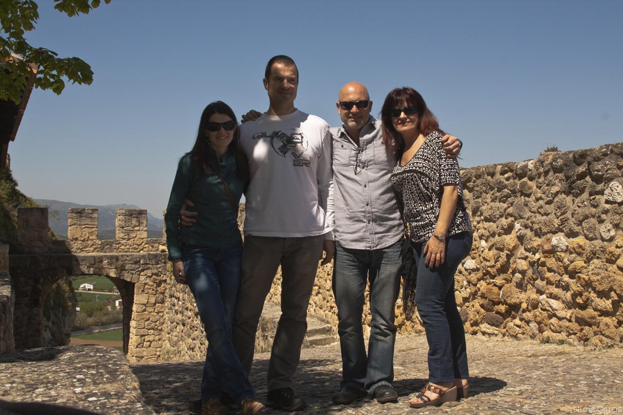 De izquierda a derecha, Nuria, Andrés, Paco y Rosa