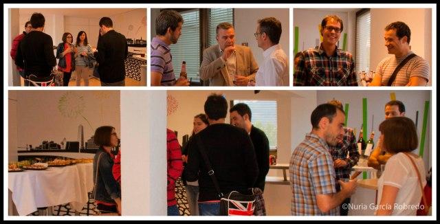 Bloggers participantes charlando con los miembros de Laboral Kutxa y Foocuzz