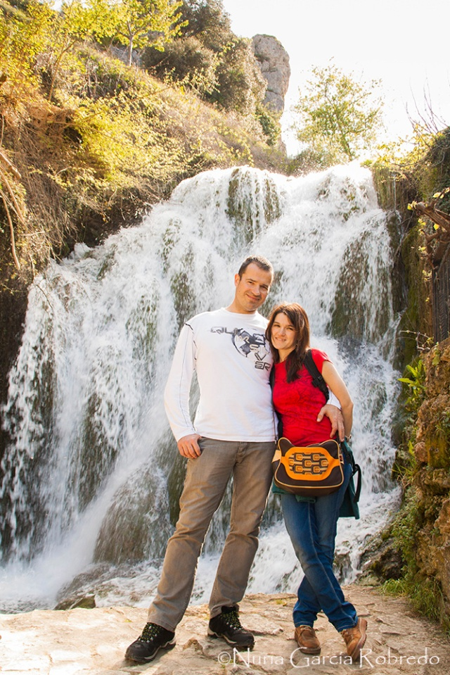 Andrés y yo en una de las últimas cascadas