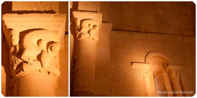 Tallas de las columnas del interior de la ermita