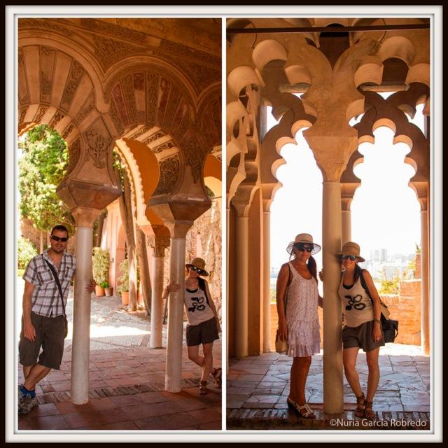 Andrés, Rosa y yo en la Alcazaba