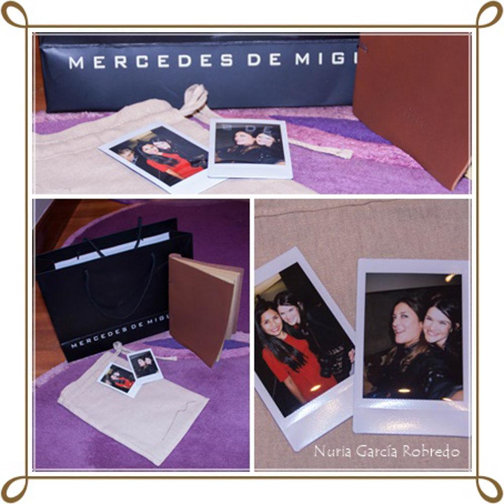 Detalle de MDM con nosotras. Gracias es precioso y fotos polaroid con Ana (