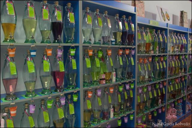 Vista general de las botellas con las fragancias