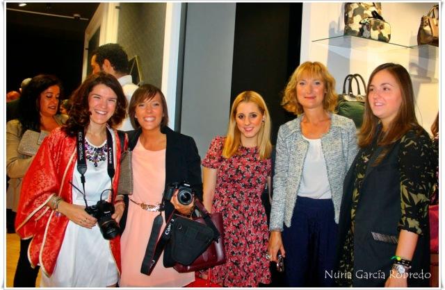 De izquierda a derecha Nurilove, Iratxe (bilbaopasarela), Goizane (me myself my wardrobe) y Arantza (Maspersonal)