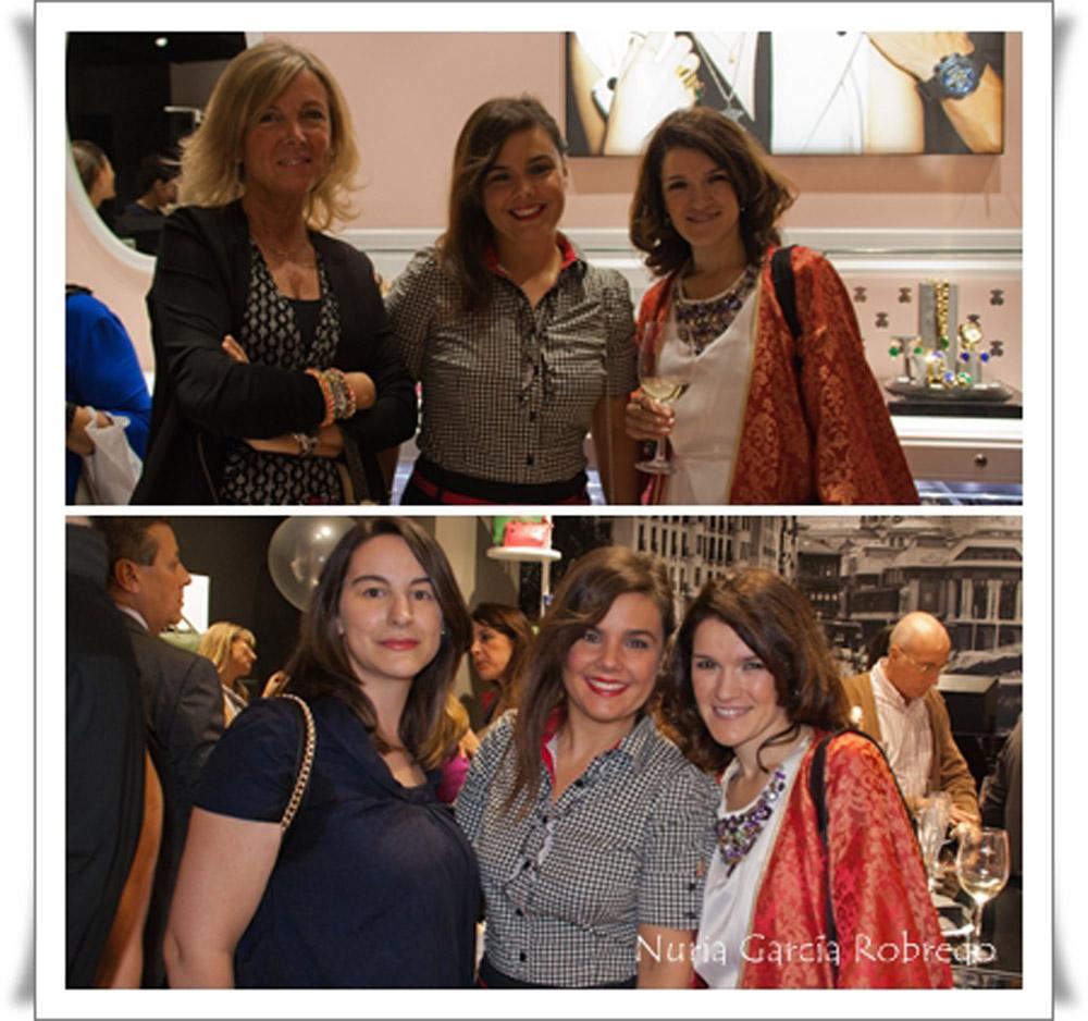 Arriba Leonor (Con buena facha), Vanessa (I love Melita) y Nurilove y abajo Tamara (Mi armario de papel), Vanessa (I love Melita) y Nurilove