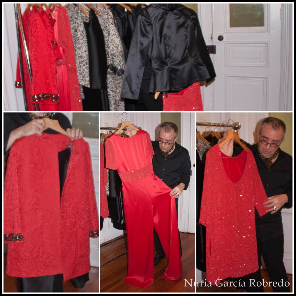 Diversas prendas en color rojo