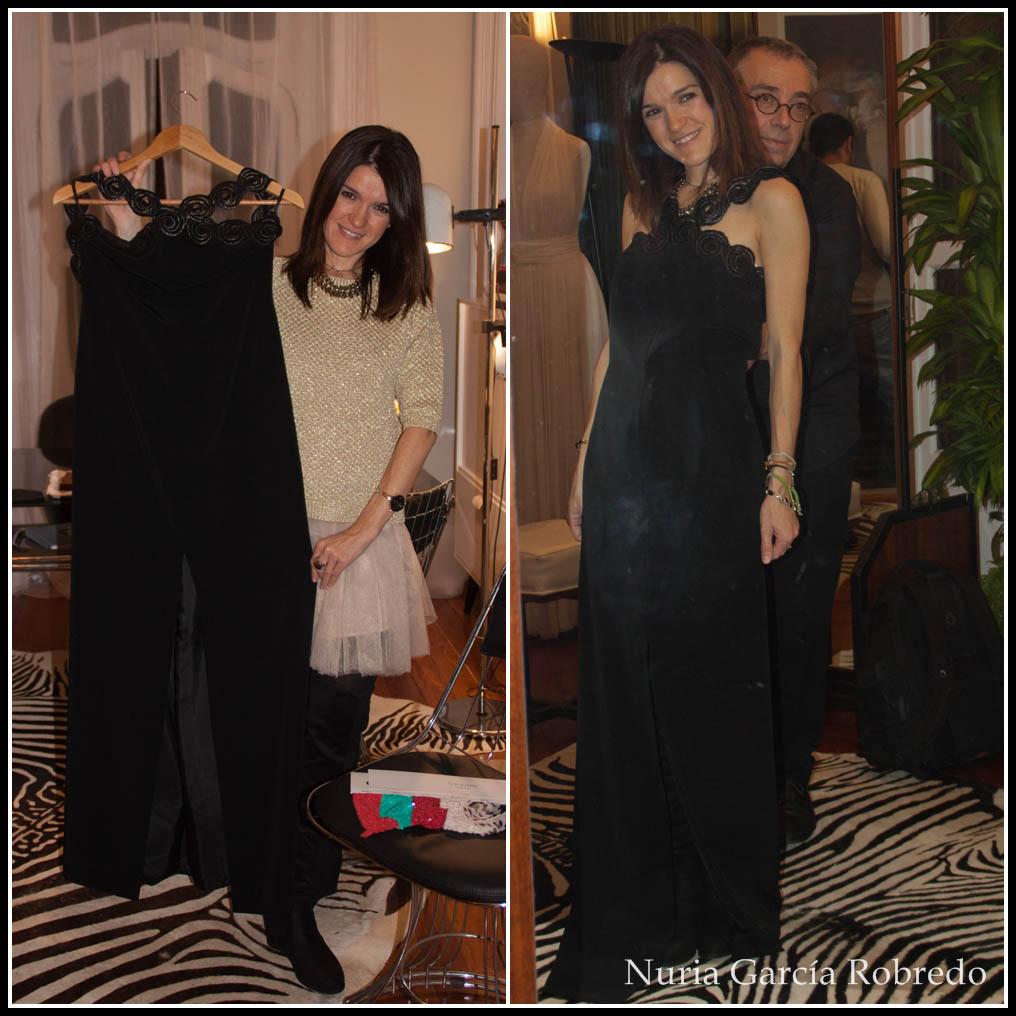 Nurilove con un vestido de noche impresionante