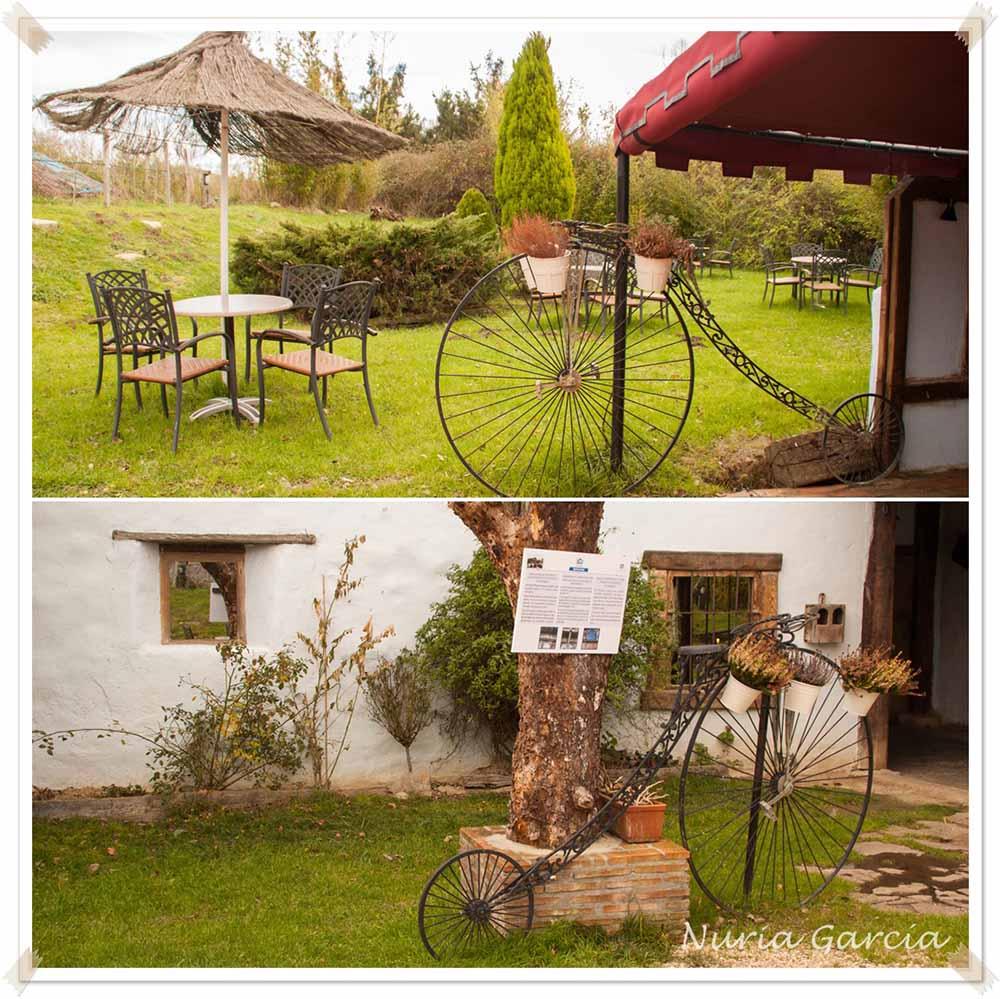 Exterior y jardines del restaurante