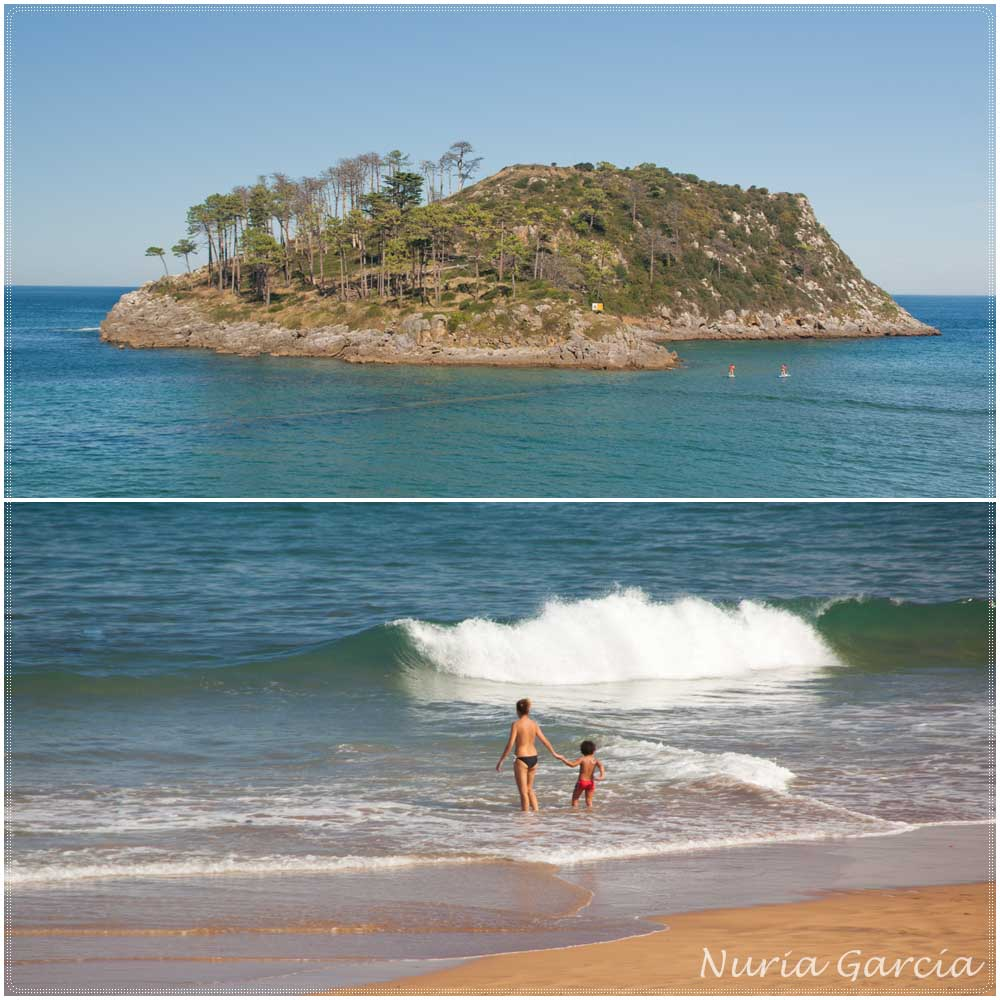 Isla de San Nicolás y Playa de Karraspio