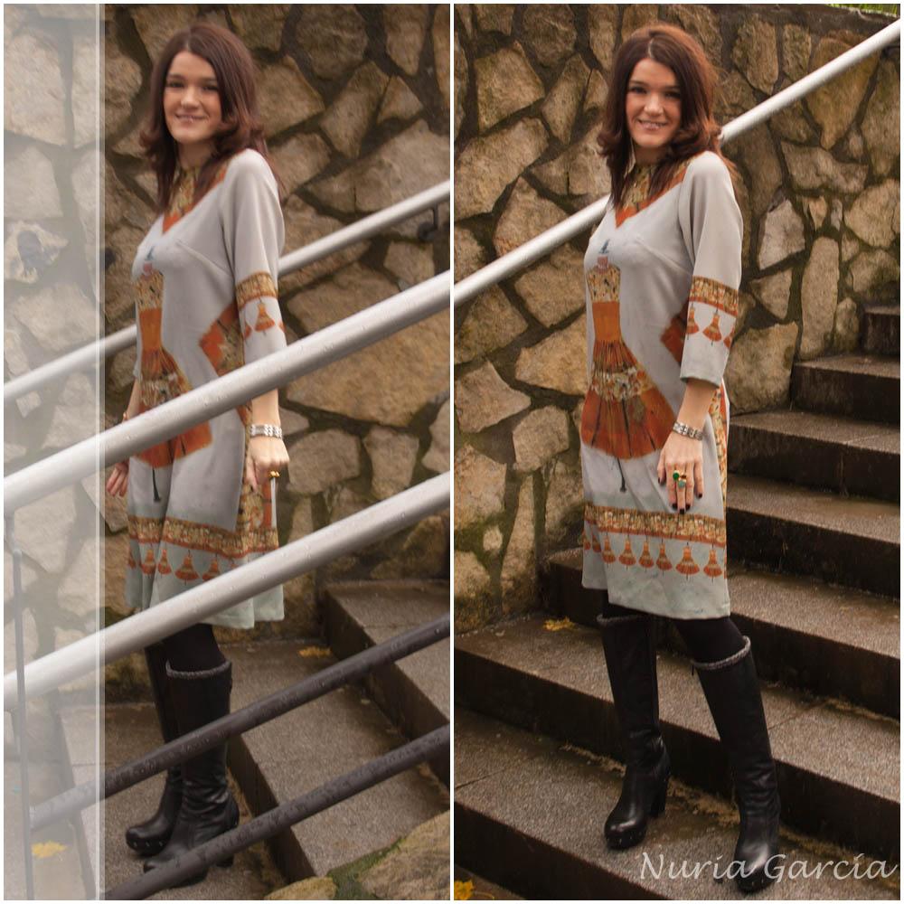 Nurilove con su vestido Armuseli