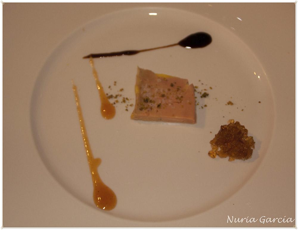Terrina de foie con gelatina de moscatel y chutney de mango