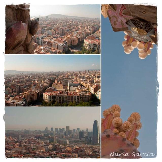 Vistas del centro de Barcelona desde la Torre de la Pasión