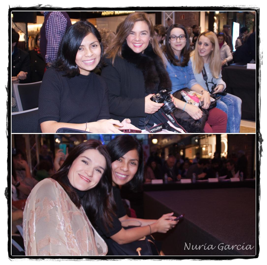 De izda. a dcha. Ana (Ana living fashion), Vanessa (I love Melita), Tamara (Mi armario de papel) y Goizane (Me myself my wardrobe) y abajo Ana y yo. Antes de que comenzara el certamen