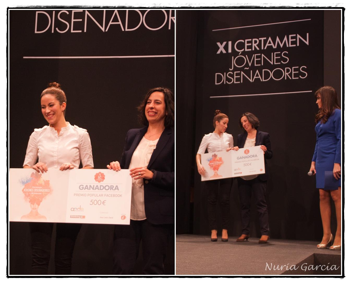 Entrega del premio de 500 € por