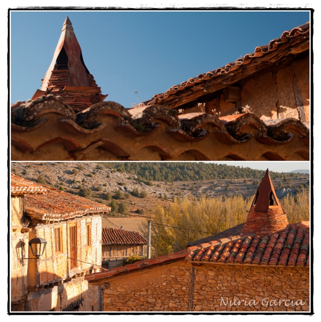 Chimeneas típicas de las casas de Calatañazor