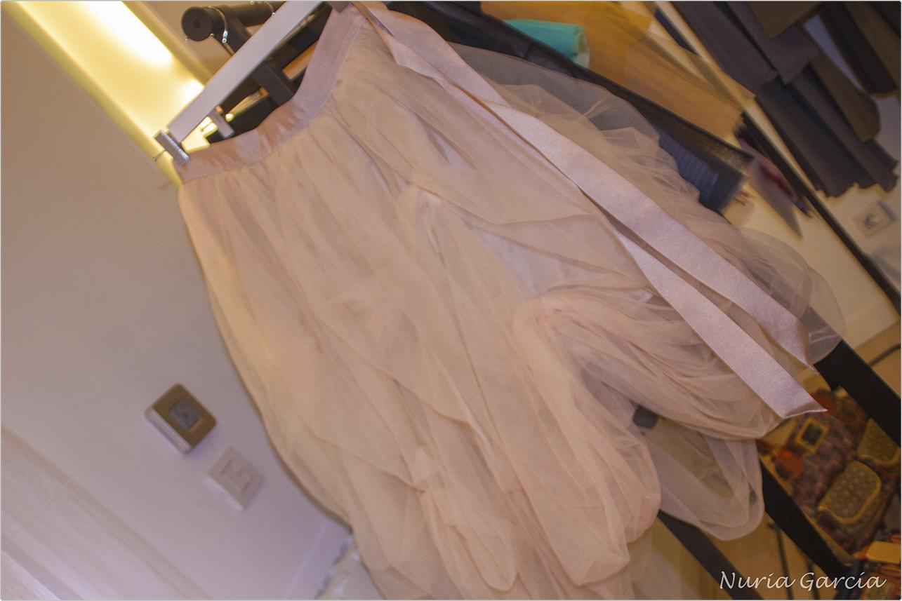 Falda de tul que es una verdadera joya