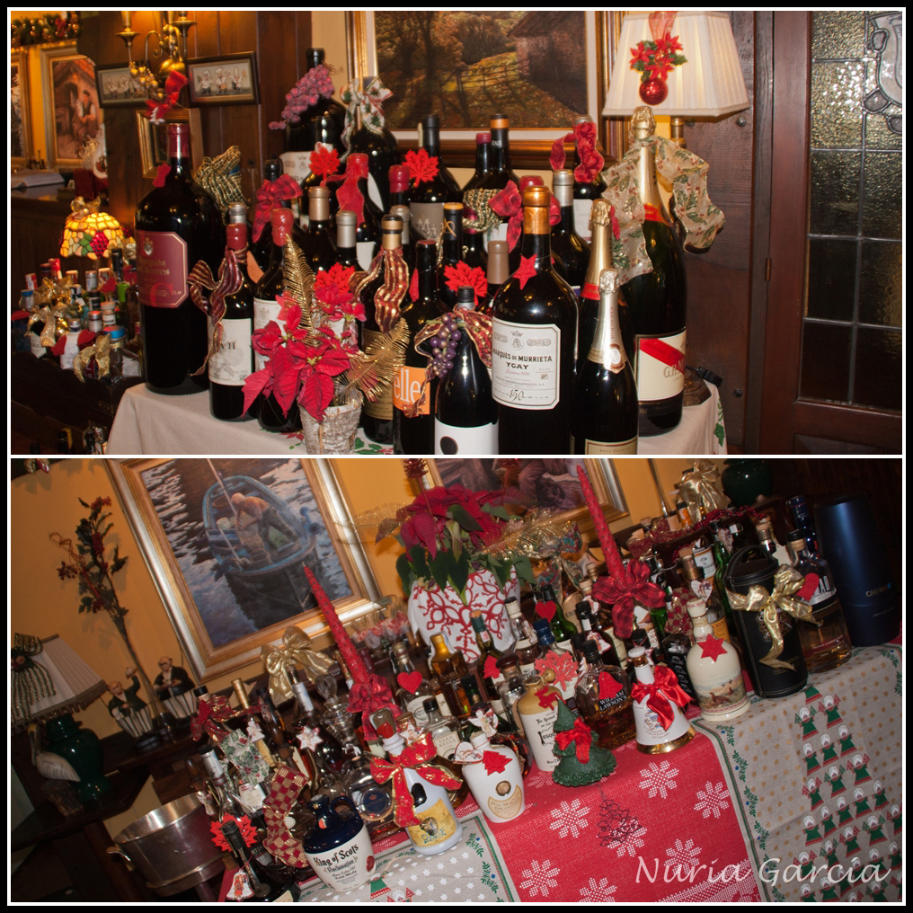 Mesas con botellas