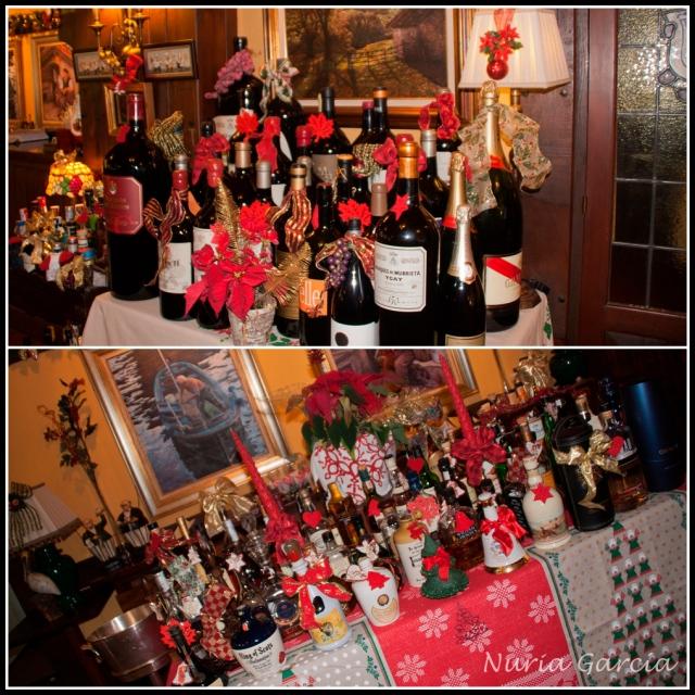 Mesas con botellas