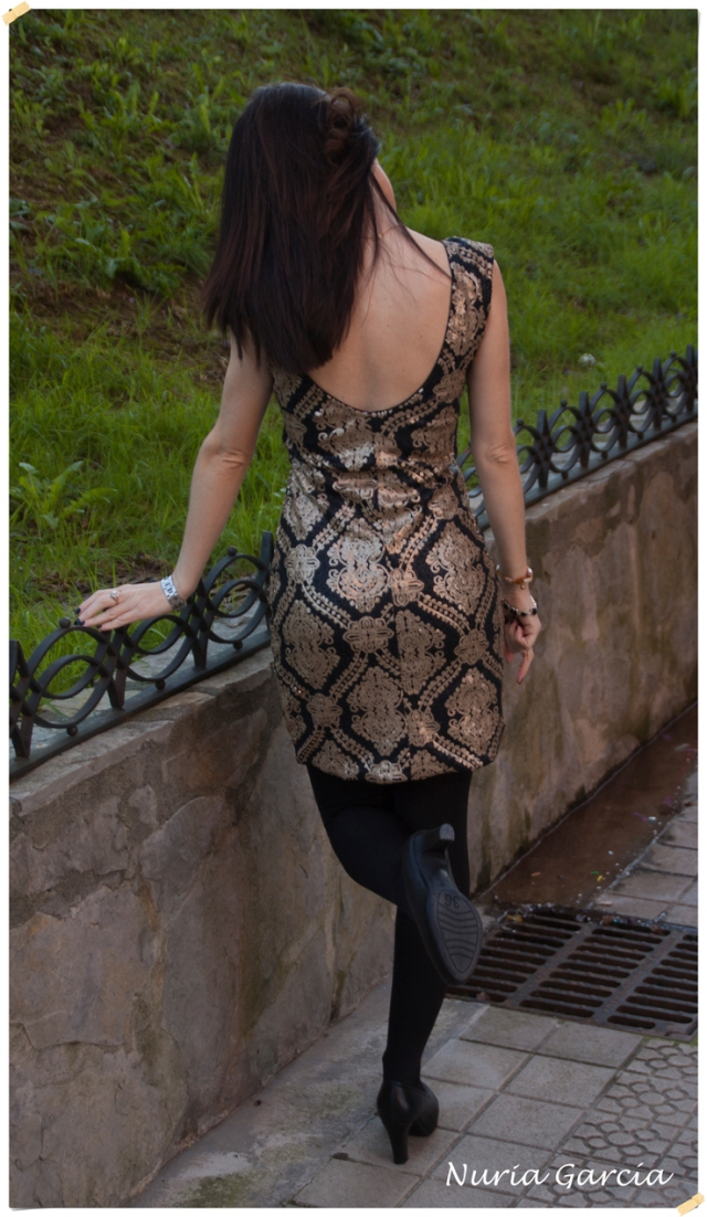Parte trasera del vestido