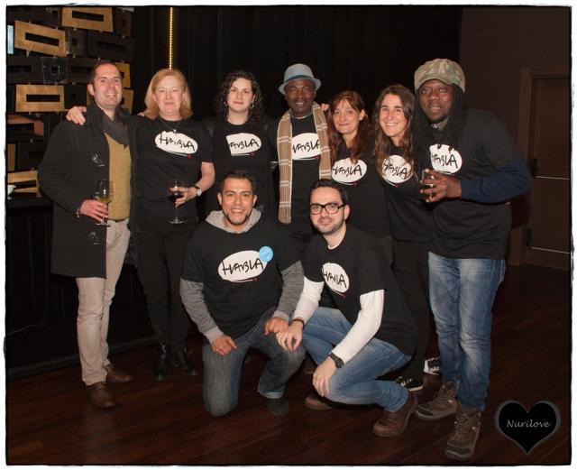 Reporteros junto con parte del equipo de Anesvad