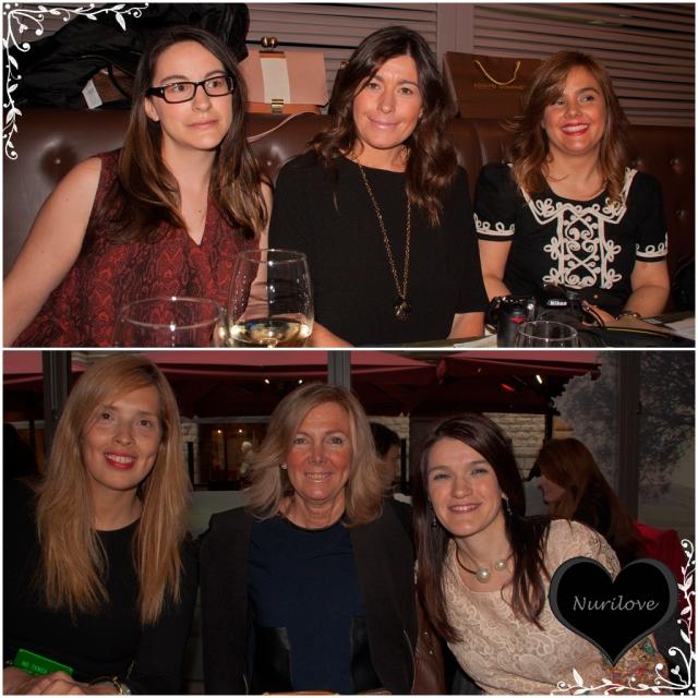 Arriba Tamara (Mi armario de papel), Silvia (Sylvia's Closet), Vanessa (I love Melita) y abajo Nohemi, Leonor (Con buena facha)  y Nurilove