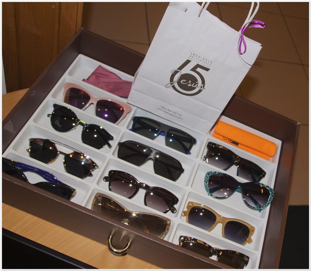 Muestra de diferentes gafas
