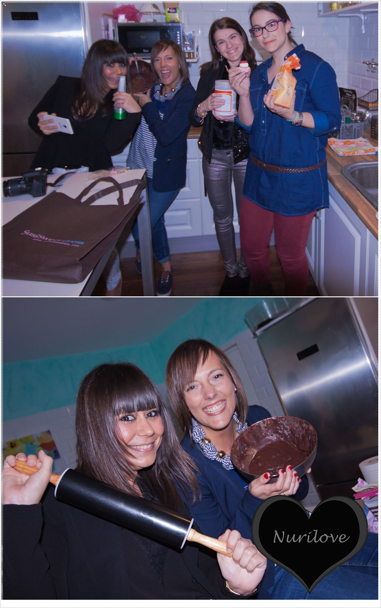 Preparando unos cupcakes