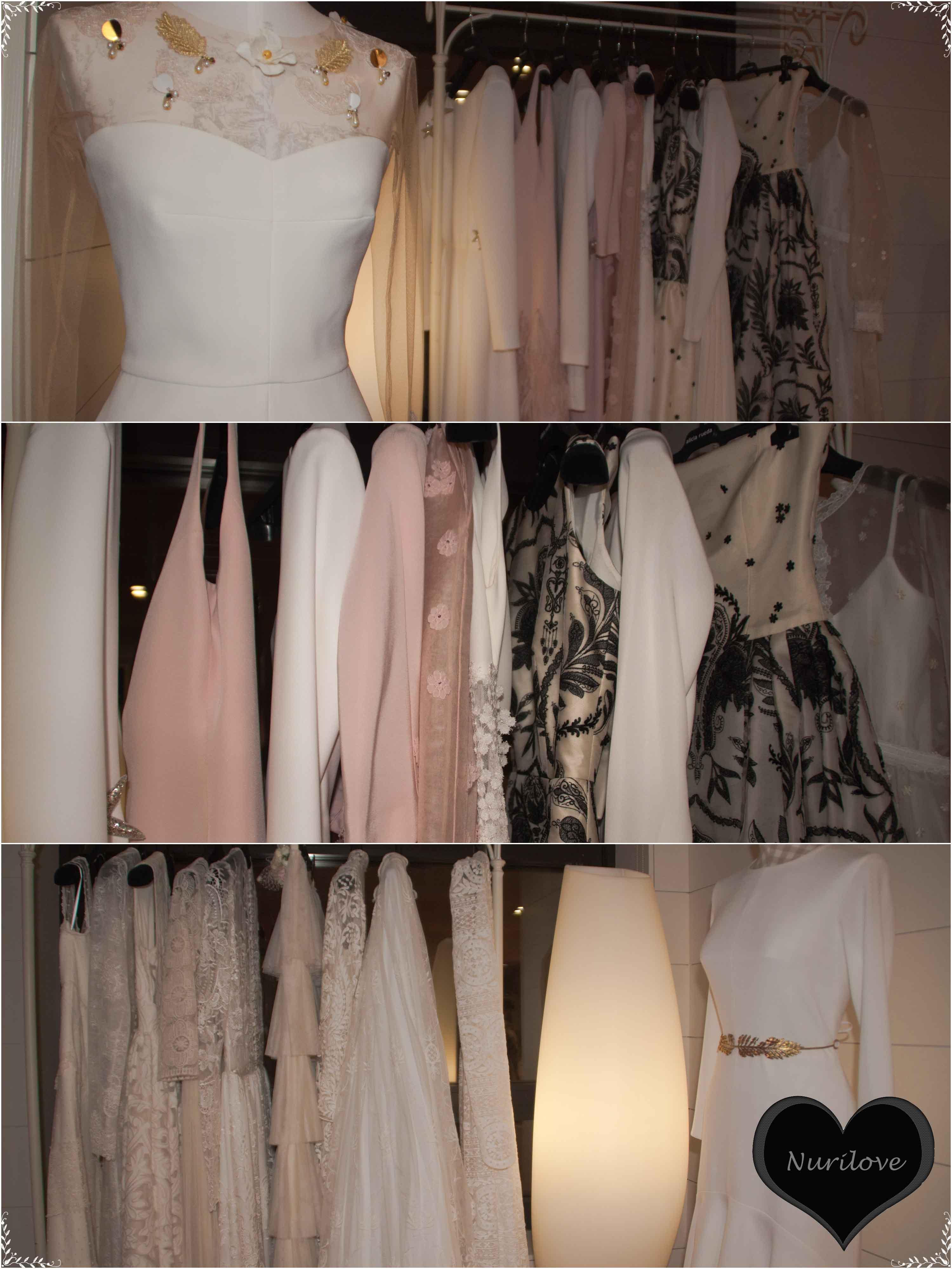 Alicia Rueda con vestidos de novia