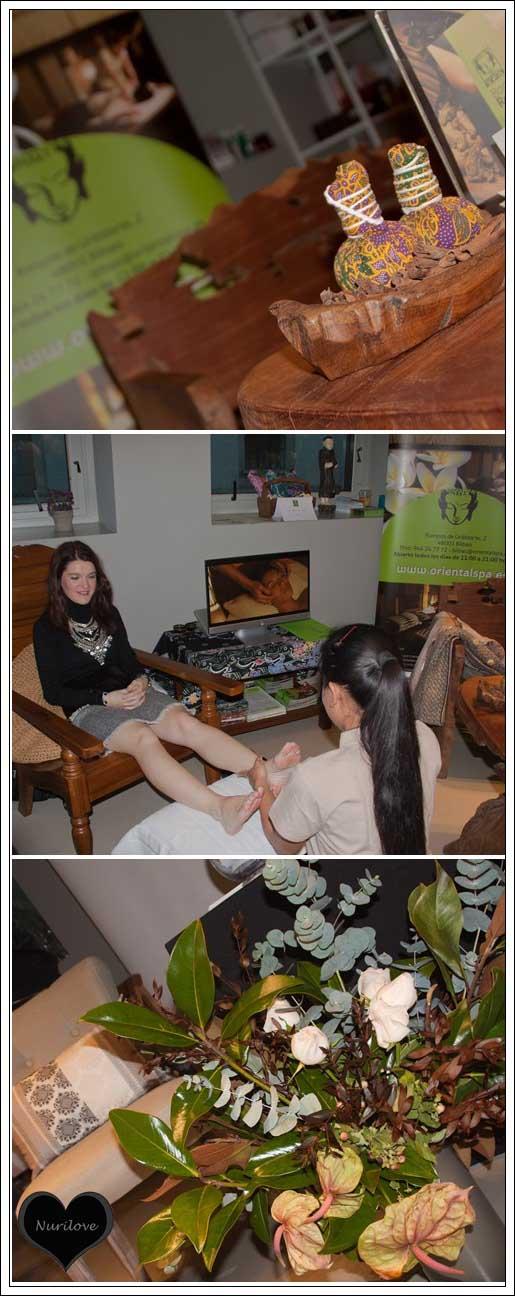 Recibiendo un masaje de reflexología gracias a Oriental Spa y Clínica Henao
