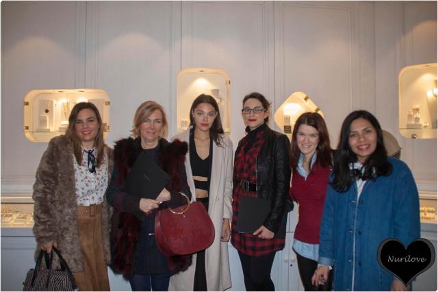 Vanessa, Leonor, Tamara, Ana y yo con Ana Rujas