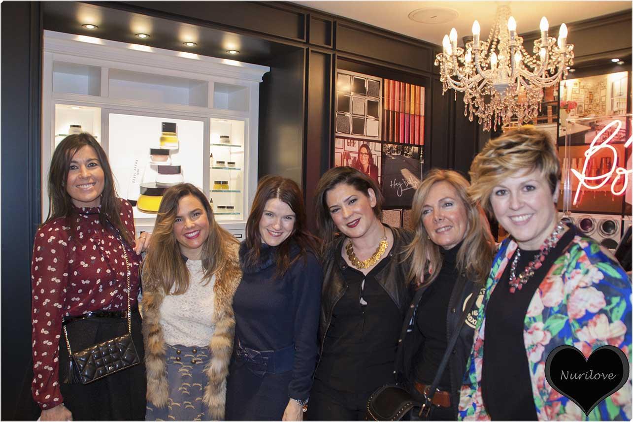 Sylvia, Vanessa, Nuria, Representante de Bobbi Brown, Leonor y Mamen