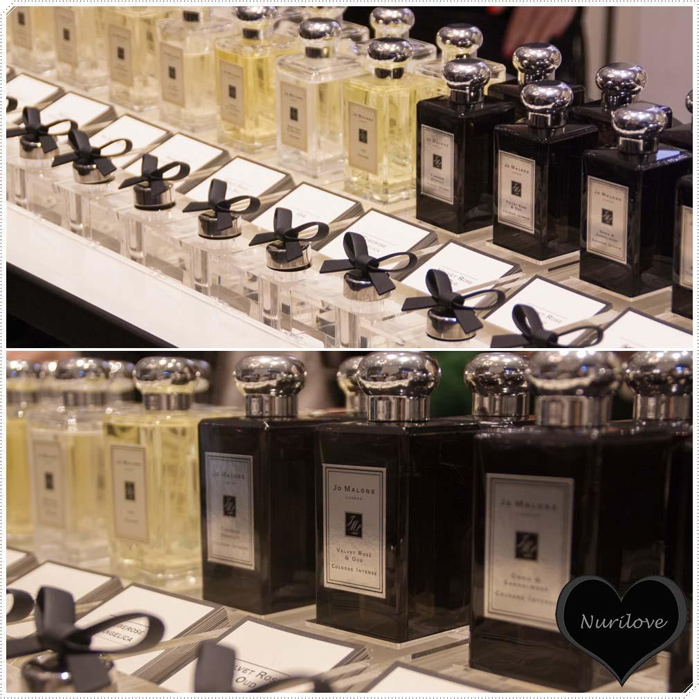 Toda la sección de perfumes que tienen