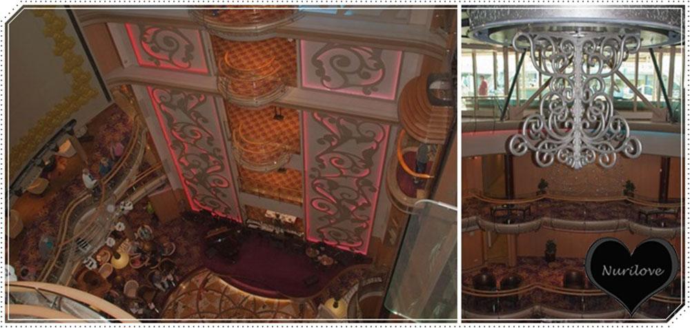 Balcones y alturas dentro del barco