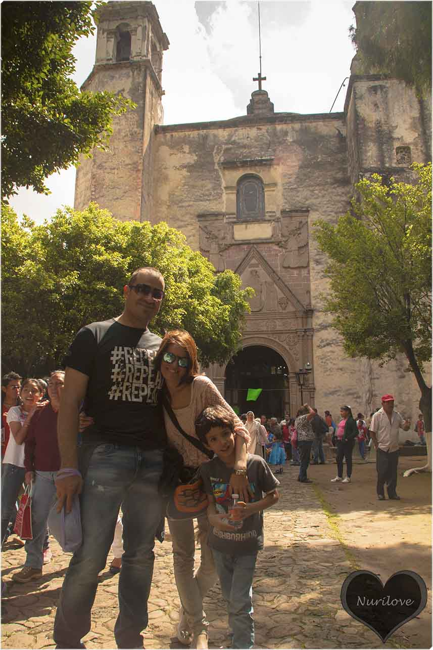 En la iglesia con Andrés y mi querido Pablo