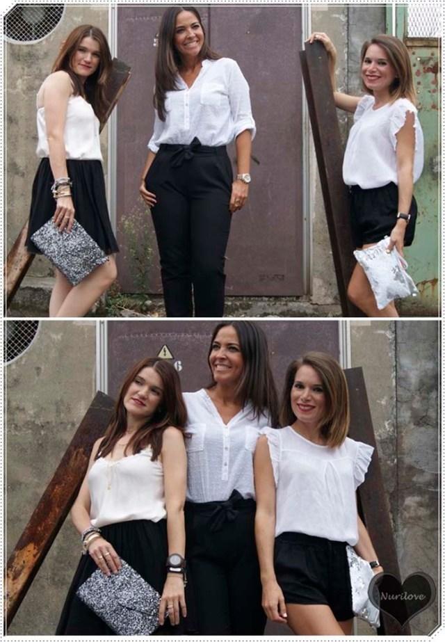 Black and white: Ainhize, Eunate y yo