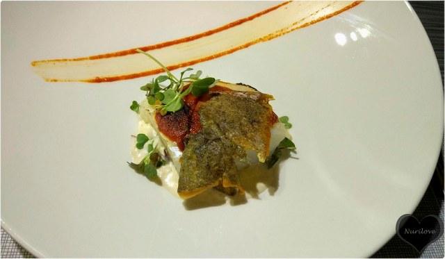 Bacalao gratinado con mayonesa de ajo y cebolla